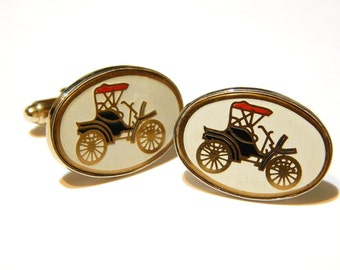 Vintage Antique Car Cuff Links - Men's Cuff Links - Men's Gifts