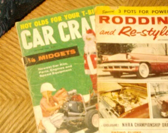 Two old car magazines