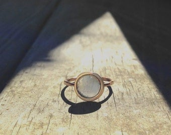 Solar Eclipse Ring, Astronomy Ring, Stack Ring