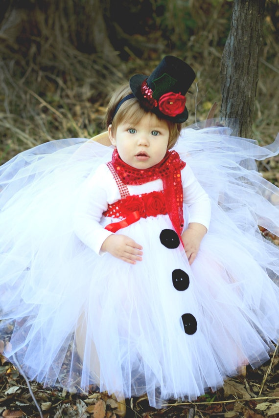 Items similar to Beautiful Snowman Tutu Dress and Snowman