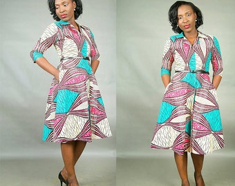 The Jade African print dress