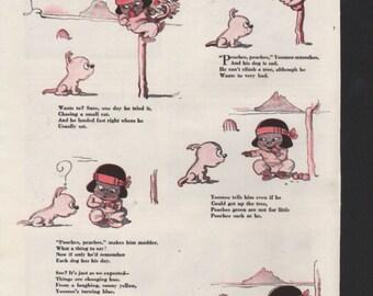 """Original Good Housekeeping cartoon """"Yoomee"""" by James Swinnerton 1930s, 8x11 in. - Kids231"""