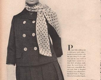 Five original fashion photo/illustrations, Vogue or Harpers Bazaar, 9x12 in - fash632