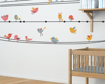 Birds Hang Out Removable Wall Decal
