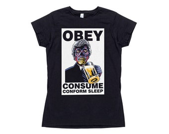 Womens They Live Obey Horror T-Shirt