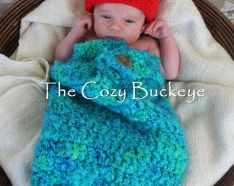 Hungry Caterpillar Hat & Cocoon Set Newborn Photography Prop