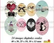 digital collage sheet, digital images, oval size, Music scrapbooking and bottle cap,printable image, instant download