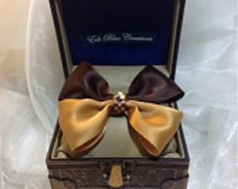 Double Bow Tie Satin Hair Bow
