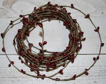 18ft Pip BERRY GARLAND -- single ply -- Burgundy