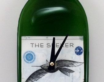 The Seeker Wine Bottle Clock