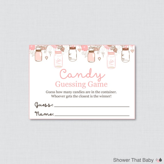 jar baby shower candy guessing printable guess