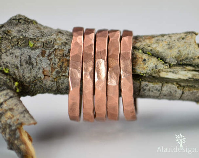 Super Thick Stackable Copper Ring(s),Copper Rings,Stackable Rings, Copper Ring, Hammered Copper, Copper Band, Arthritis Ring, Copper Jewelry