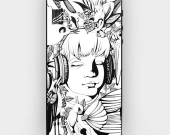 Skin Sticker Decal for iPhone 6 5 5s 4 4s - Boy and Birds