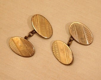 Vintage Rolled Gold Cuff Links