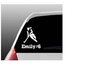 Field Hockey Decal Etsy - Custom field hockey car magnets