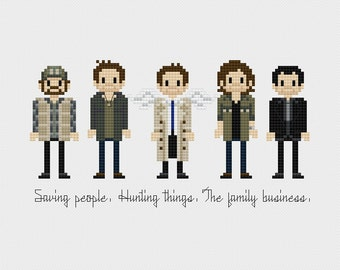 Supernatural Cross Stitch Pattern PDF Instant Download