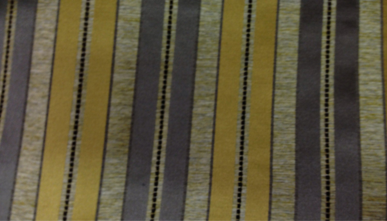 Grey and Yellow Stripe Fabric by ShopMyFabrics on Etsy
