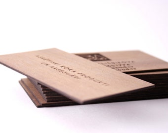 Wooden Business Cards Unique Design/ Set of 20 Wooden Cards. Unique business gift. Unique gift.