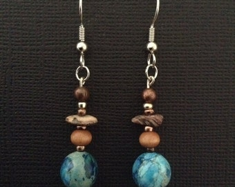 Earthy grrrrl chic dangle earrings!