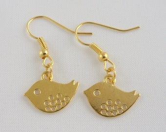 Birdie Earrings - Gold Plated