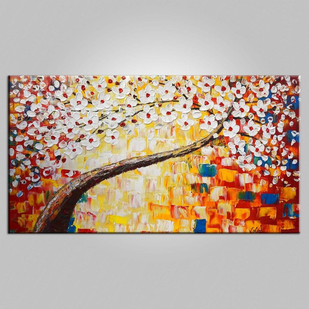 Extra large wall art oil painting large canvas art framed wall Large wall art