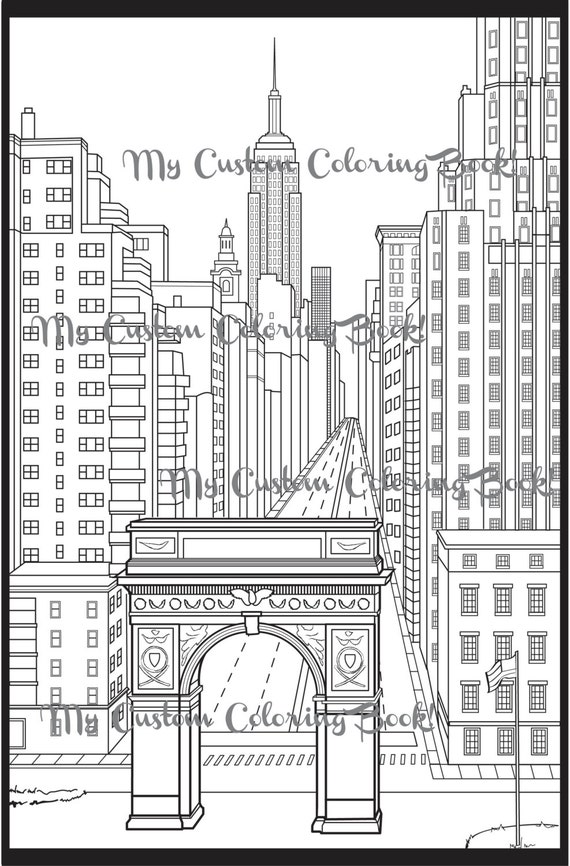 Items similar to Download New York City Coloring Page on Etsy