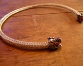 Silver Dragon Torc Neck Ring - Viking Knit