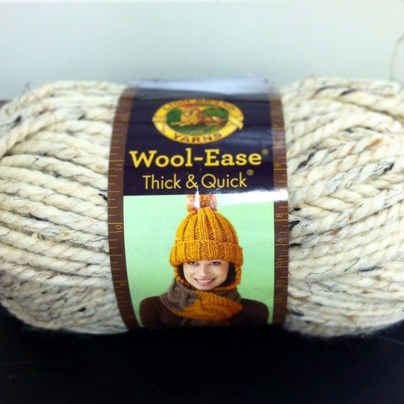 Knitting Patterns Wool Ease Thick Quick : Lion Brand Wool Ease Thick & Quick Yarn Color= Grey Marble