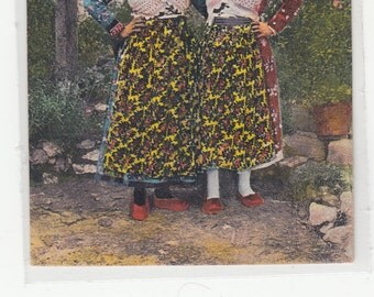 Lovely Women Posing In Yugoslovian Authentic Ethnic Traditional Costume 1938