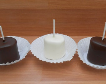 White, Milk & Dark Chocolate Marshmallow Pops 1 Doz.