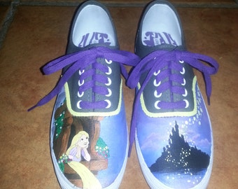 Custom Painted Rapunzel Shoes