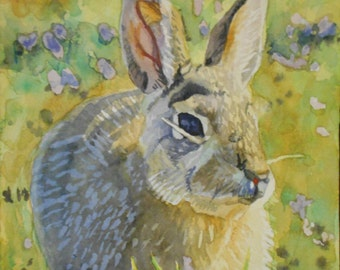 Bunny watercolor print. Bunny painting. Watercolor rabbit. Bunny wall art. Bunny picture. Bunny artwork. Rabbit painting. Rabbit artwork.