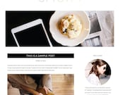 "Premade Wordpress Website Theme ""Uptown"" - Responsive Self-Hosted Wordpress Website and Blog Theme"