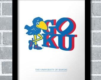 Special Edition Kansas Jayhawk Art Print By