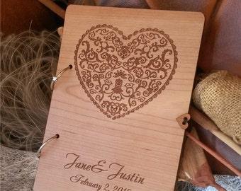 Custom Wedding guest book wood; rustic wedding guest book ; wooden guest book, unique wedding guest book, anniversary wood guest book