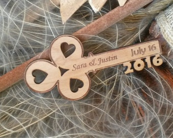 Key wood save the date magnet  50 Unique save the date magnet Rusic save the date magnet save the date wedding magnets custom magnets wood