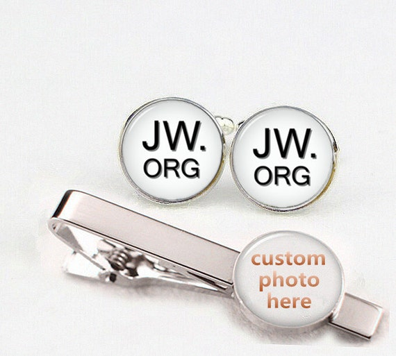 custom round or square cufflink & tie clip, custom initial or letter, custom jw cuff links, jw cufflinks, jehovah  jesus jewelry, cool gifts