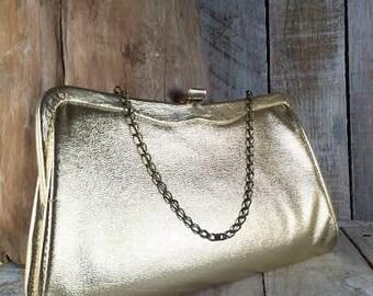 Gold Clutch - Evening Bags - Clutch Handbags - Evening Clutch - gold handbags - gold bags - clutch bags - evening purse