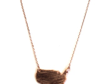 United States Necklace - Available in Silver, Gold & Rose Gold