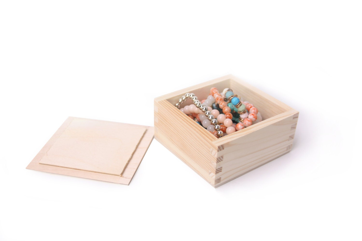 39 X 39 Wooden Unfinished Box Square Lid