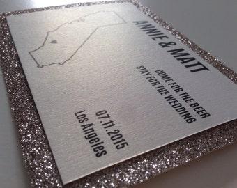 State Glitter Save-The-Date