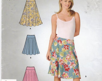 Uncut Simplicity Sewing Pattern 4553 Flared Skirt Size 6-16