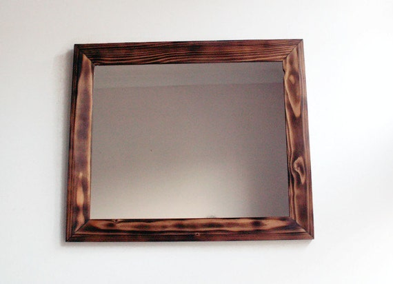 wall mirror wooden mirror handmade reclaimed wood frame
