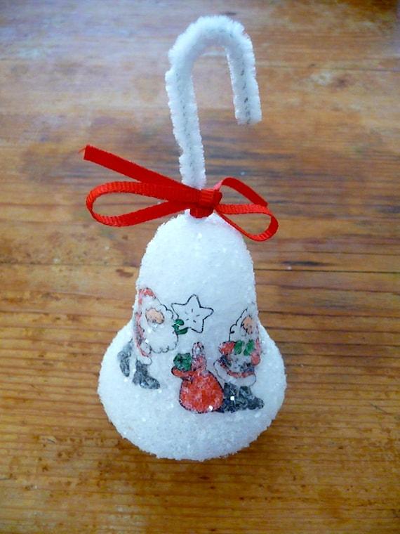 Vintage christmas bell ornament