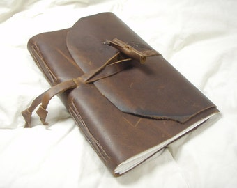 Coffee Cow Hide Journal
