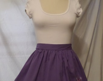 My Little Pony Twilight Sparkle Inspired Square Gothic Lolita Adult Costume Apron w/ Ruffle Trim