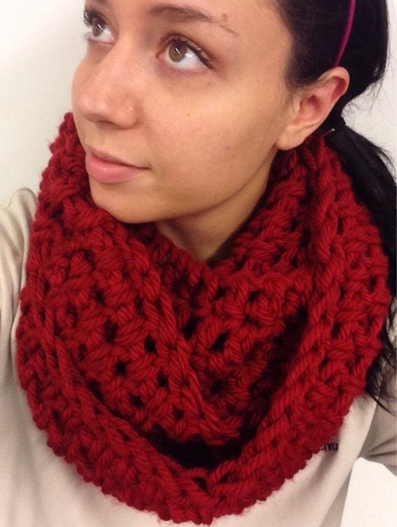 chunky cowl 100  handmade crochet unisex cowl color