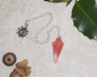 Pink Cherry Quartz Pendulum for Divination Magic