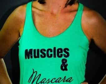 Workout tank / muscles & mascara / workout tank top