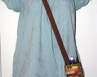 Planet Earth Save the Trees Recycle  Insulted Bottle Holder with Shoulder Strap